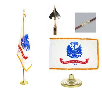 Army Indoor/Parade Flag Set 4ft x 6ft US Military Flags