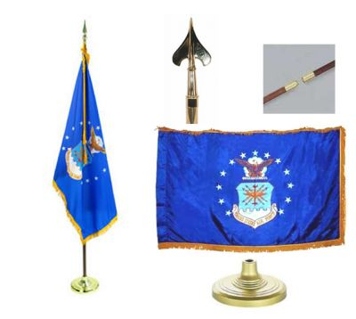 Air Force Indoor/Parade Flag Set 4ft x 6ft US Military Flags