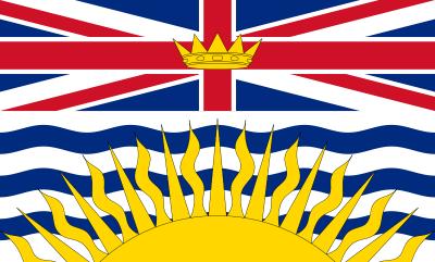 British Columbia Flag 4ft x 6ft Canada Provinces Flags