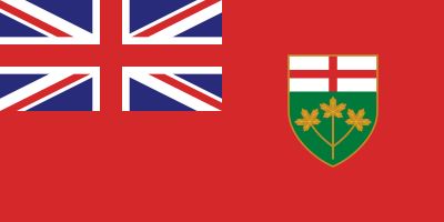 Ontario Flag 4ft x 6ft Canada Provinces Flags