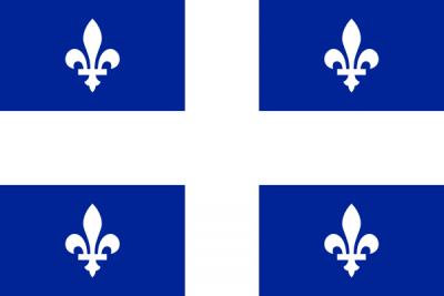 Québec Flag 4ft x 6ft Canada Provinces Flags