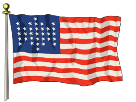 Union Civil War Flag, 3ft X 5ft US Flag Specialty Flags
