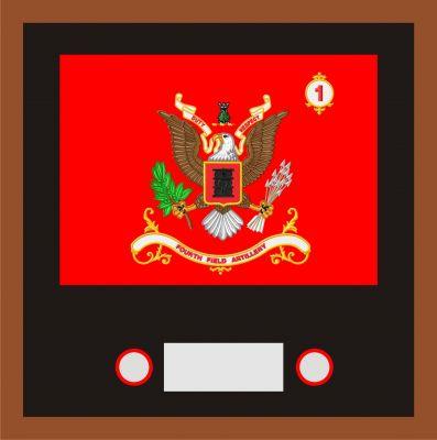 Regimental & Battalion Colors Framed Sets Small 14