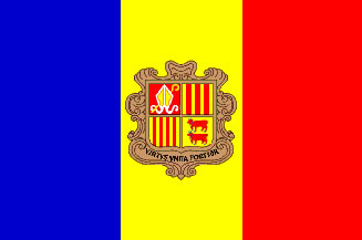 Andorra Flag 3' X 5' Indoor/Parade Flag Set World Countries Flags