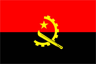 Angola Flag 4' X 6' Indoor/Parade Flag Set World Countries Flags