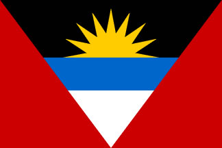 Antigua and Barbuda Flag 3' X 5' Indoor/Parade Flag Set World Countries Flags