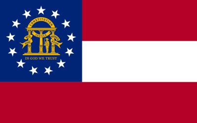 Georgia State Flag 3'x5' US State Flags