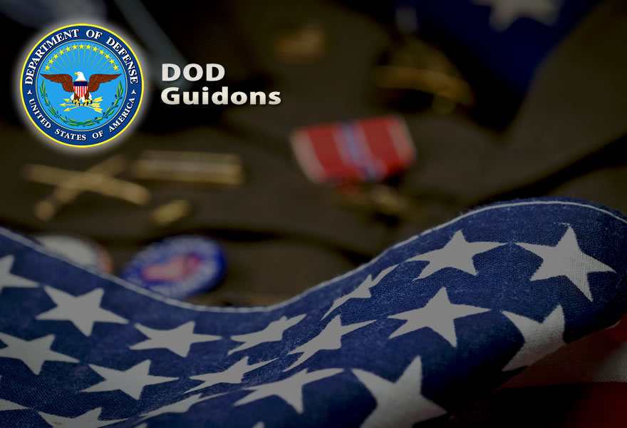 Custom Guidons Services - US Army, Air Force, Navy, Marine Corps, Coast Guard, Law Enforcement, DOD, ROTC, National Guard Custom guidons